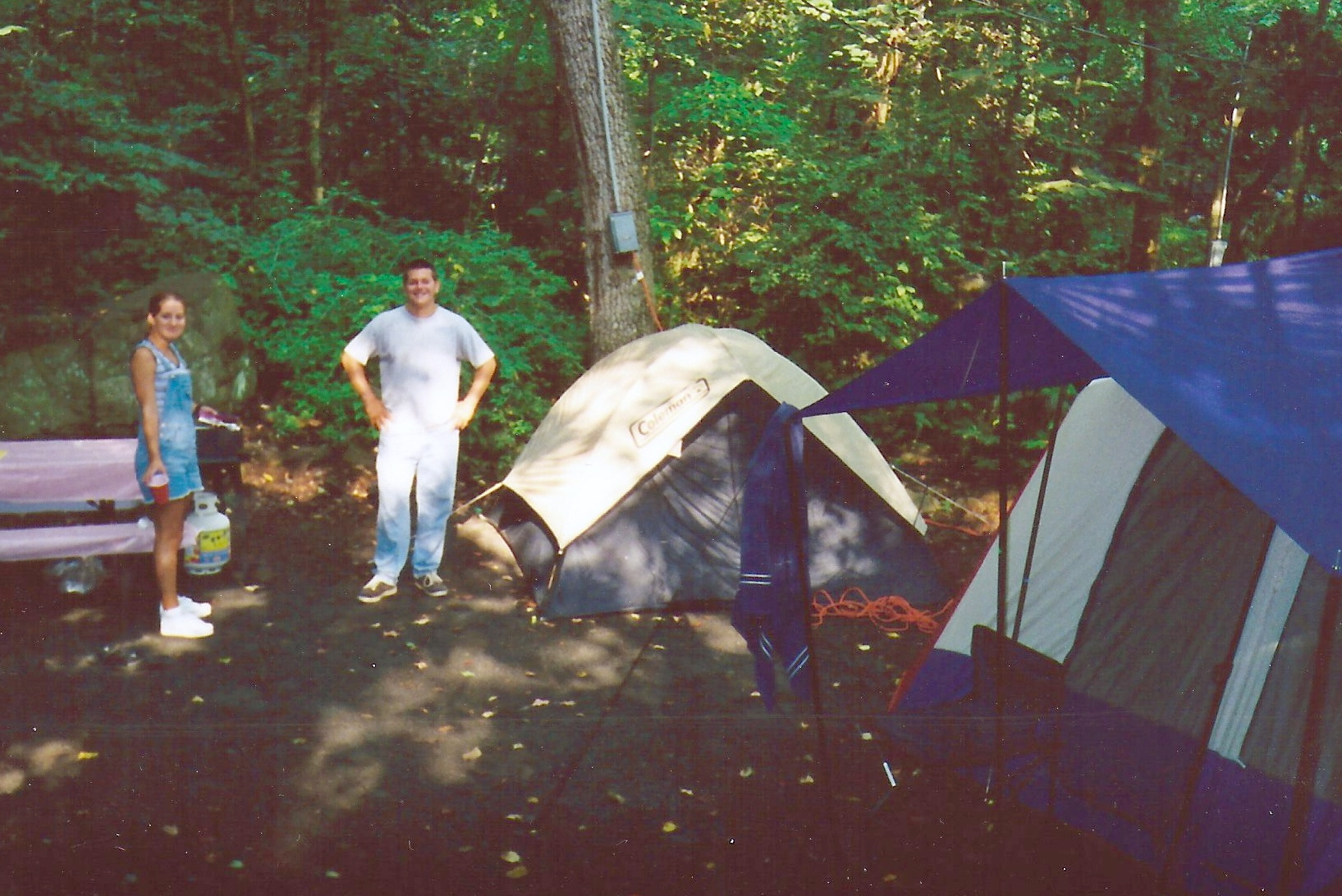 one of our camp sites along the way