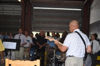 worship in the warehouse while the chapel is being renovated