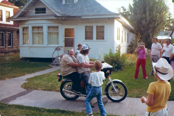 Her mama celebrating her 75th with a motorcycle ride.