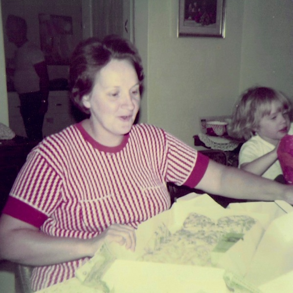 A rare visit over mama's birthday in 1976