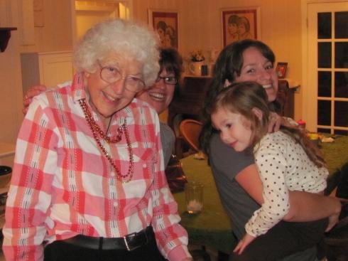 Grandma becoming great-grandma. We miss her so.
