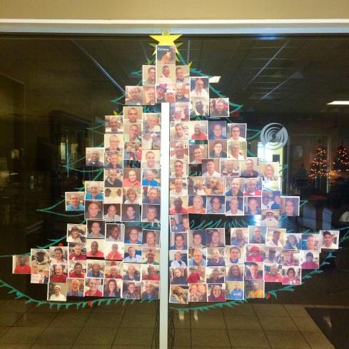 xmas tree of photos